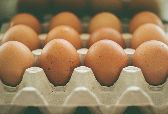 Cardboard egg carton